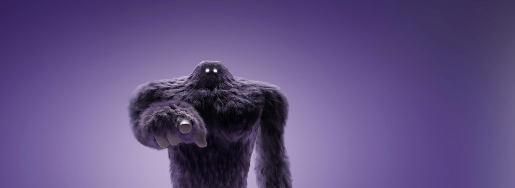Monster-Pointing-Purple-background