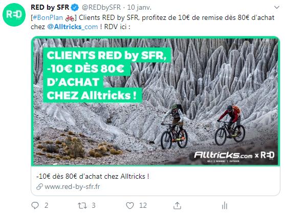RED by SFR - Partenariat Alltricks et fidélisation de la base client